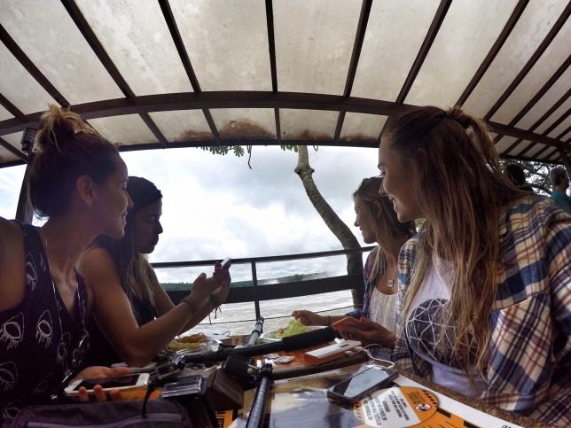 Nossa única foto no restaurante. A vista era linda!