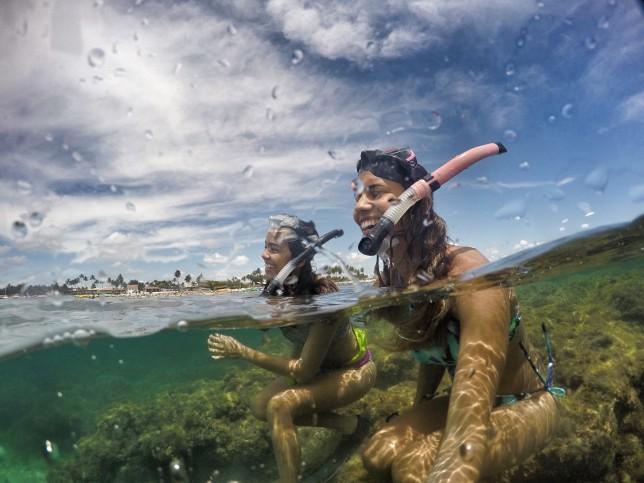 No sábado de Carnaval mergulhei com a Leka, uma amiga que agora mora em Recife.